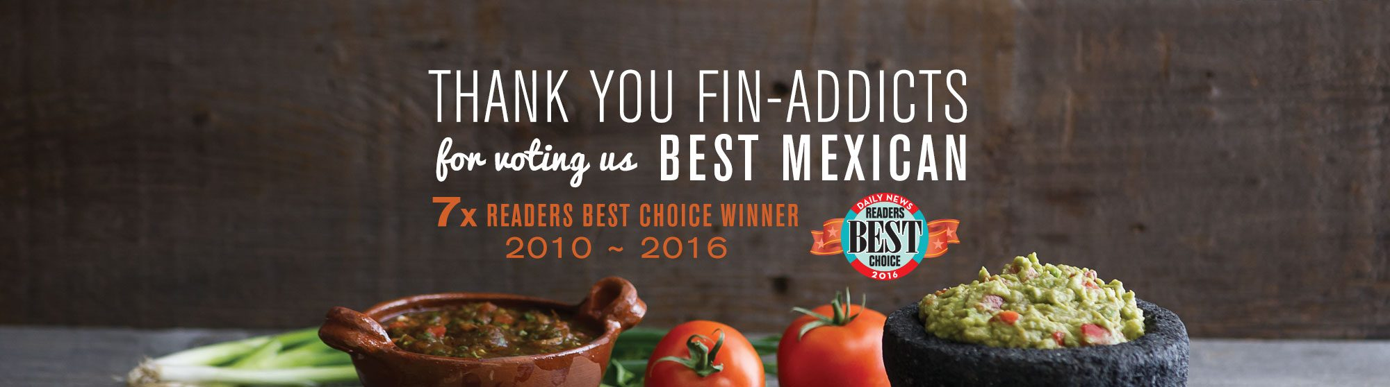 7x Readers Choice Winner - Best Mexican