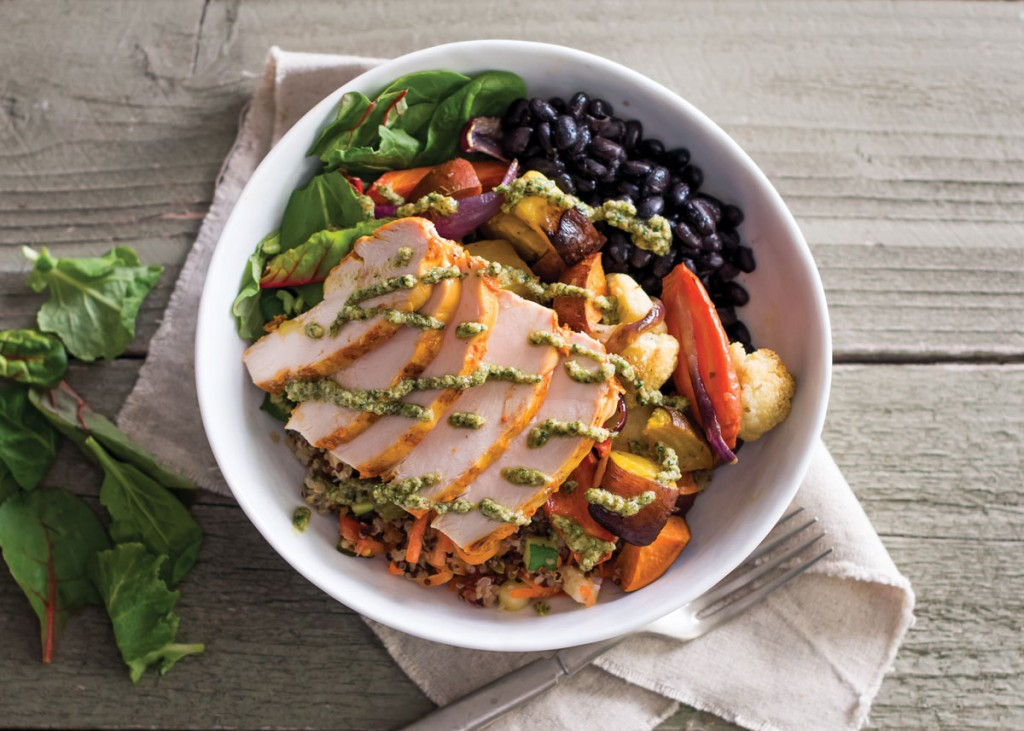 Roasted Veggie Bowl with All Natural Chicken