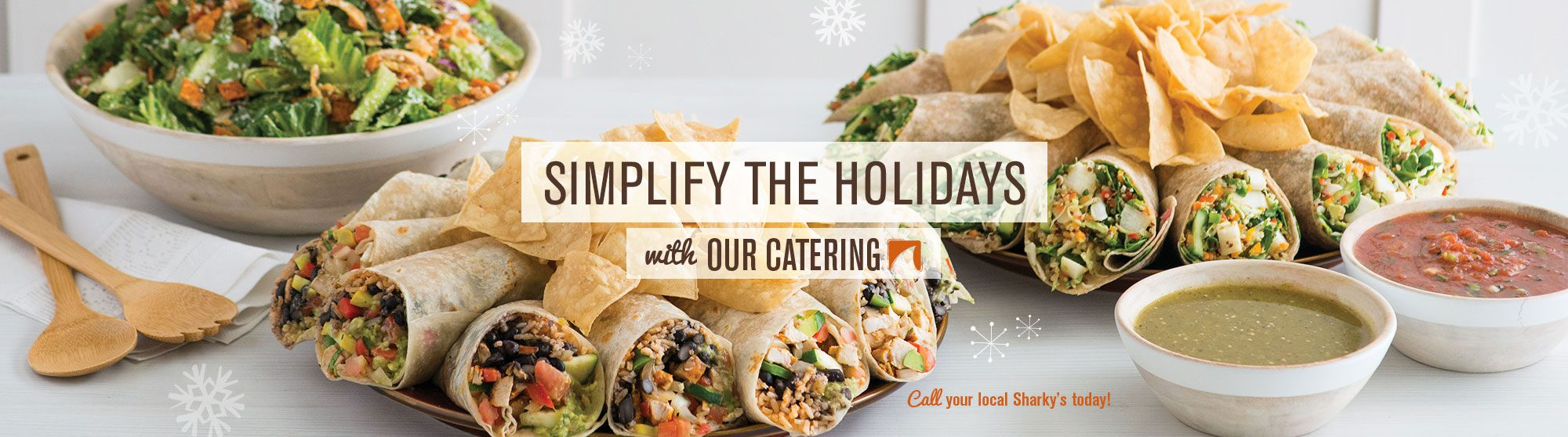 Sharky's catering for the holidays