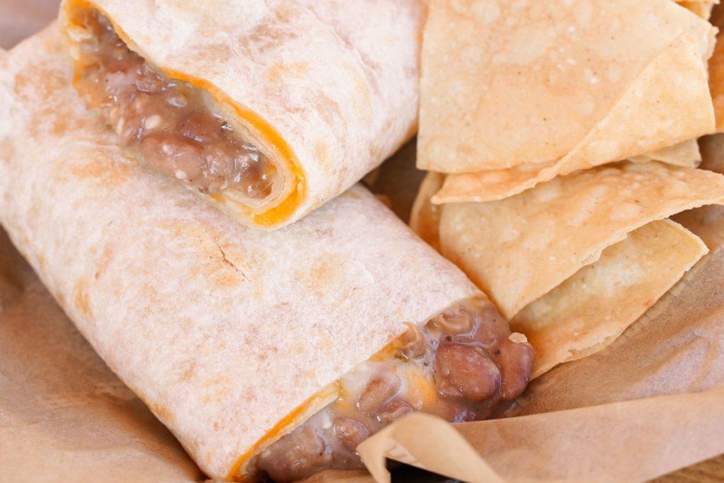 Sharky's Kid's Bean & Cheese Burrito