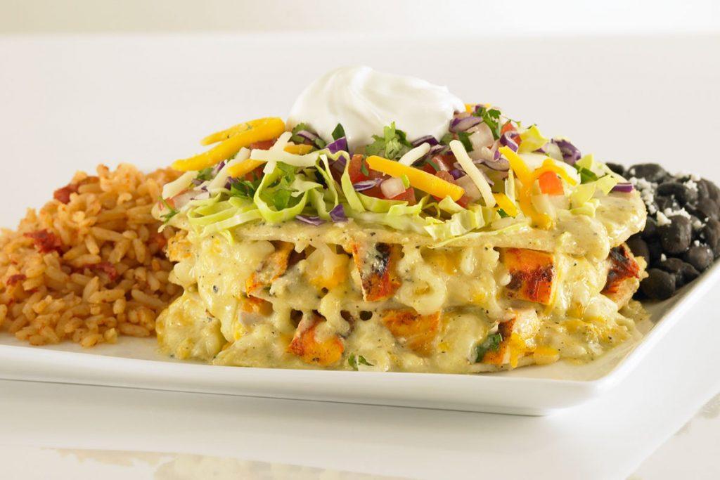 Sharky's Stacked Chicken Enchilada